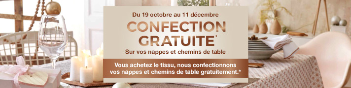 Confection gratuite nappes et chemins de table