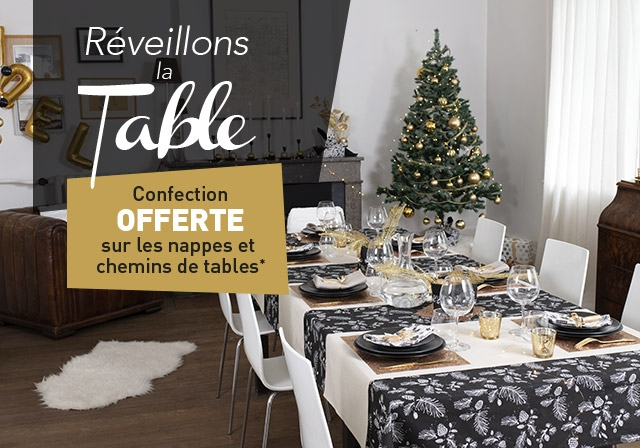 Nappe, set et chemin de table
