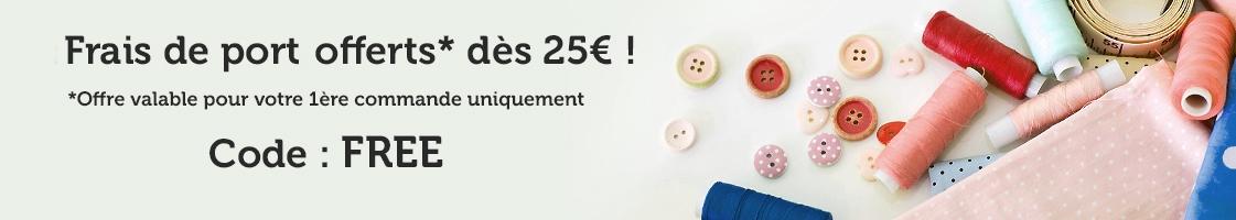 Frais de ports offerts dès 25€ !