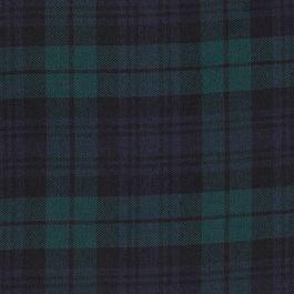 Vert Bleu Marine Coton Sergé Tartan Carreaux Robe tissu M1437