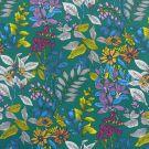 Tissu coton imprimé fleurs glycines vert