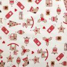 Tissu cretonne motif cadeaux