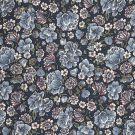 Tissu viscose popeline fleurs bleu