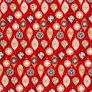 Tissu coton imprimé boules de noël