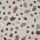 Tissu coton épais imprimé Noël