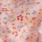 Tissu coton bio rose fleurs