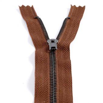 Fermeture spéciale pantalon non séparable - Marron