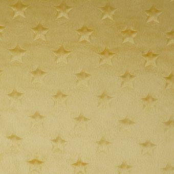 Tissu polaire gaufré étoiles jaune