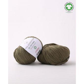 Pelote de coton à tricoter Phildar Ecocoton army