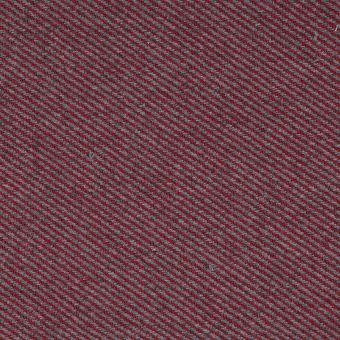Tissu jacquard sergé laine rouge