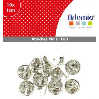 Attache pin's 1cm 10 pièces