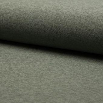 Tissu néoprène uni chiné vert kaki