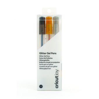 Cricut Joy 3 stylos gel paillettés noir or argent 0,8 mm