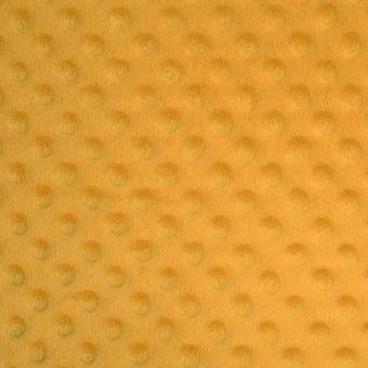 Tissu polaire minky jaune curry