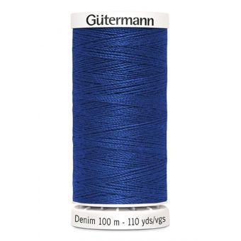 Fil à coudre Denim Gütermann 100 m bleu roi