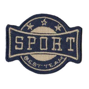 Écusson sport bleu