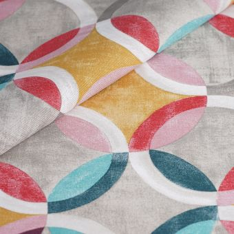 Tissu ottoman coton recylé formes géométriques