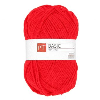 Pelote de fil à tricoter MT basic rouge