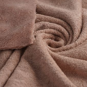 Tissu éponge bambou doudou rose