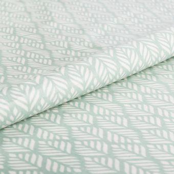 Tissu enduit brillant feuillages verts - AU Maison