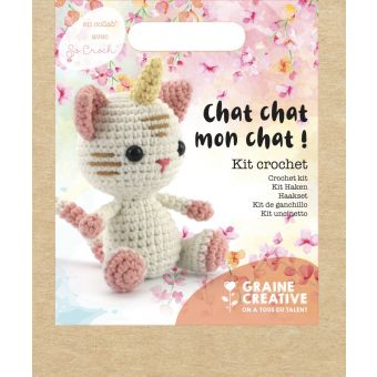 Kit crochet chat-licorne 150 mm