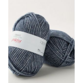 Pelote de fil à tricoter Phildar Frimas denim