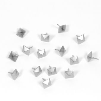 Clous tapissier carré argent Ø12mm