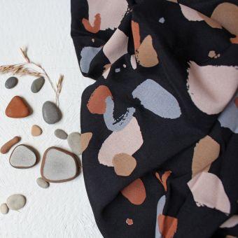 Tissu viscose imprimé Granito night - Atelier Brunette