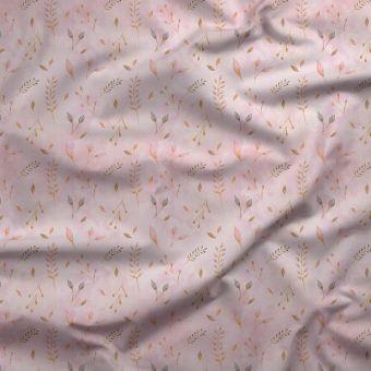 Tissu PUL pour les couches lavables herbiers roses - La Panda Love Fabrics