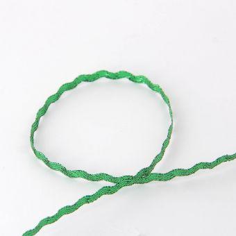 Ruban serpentine métallisé vert 6 mm