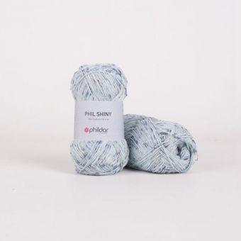 Fil à tricoter Phildar Shiny bleu ciel