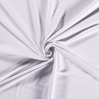 Tissu molleton sweat French Terry bio et recyclé blanc