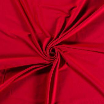 Tissu molleton sweat French Terry bio et recyclé rouge