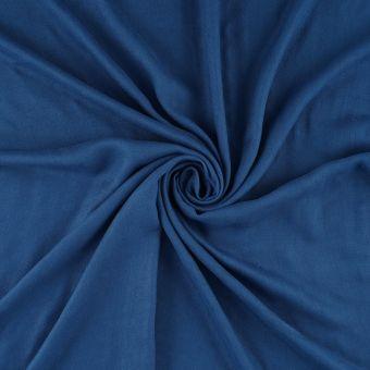 Tissu popeline bambou bleu