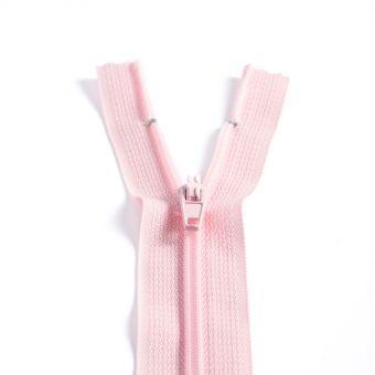 Fermeture polyester non séparable à glissière - Rose clair