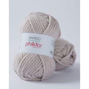 Pelote de fil à tricoter Phildar Rapido chanvre