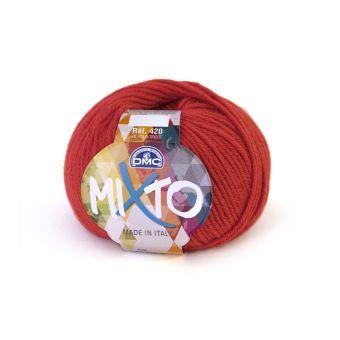 Pelote de fil à tricoter DMC Mixto rouge