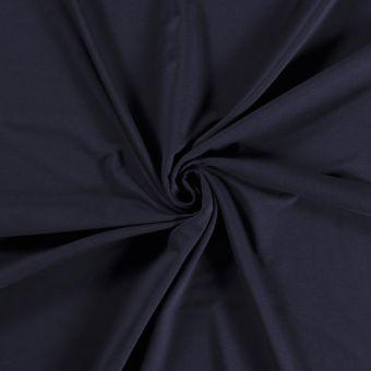 Tissu molleton sweat French Terry bio et recyclé bleu marine
