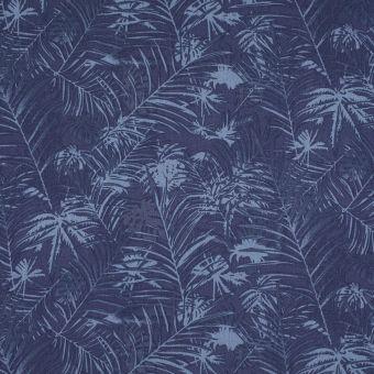 Tissu tencel jungle bleu