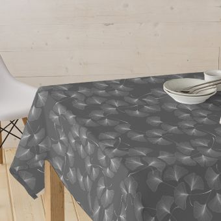 Tissu enduit pour nappe fleurs ginkgo