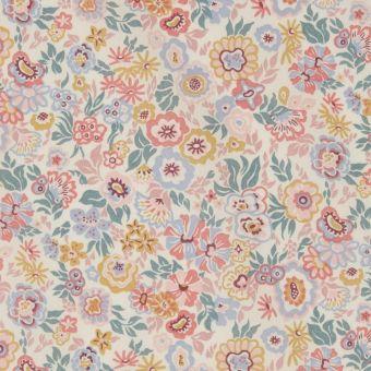 Tissu popeline de coton liberty floral jazz rose