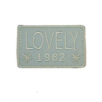 Écusson thermocollant Lovely 1962 bleu