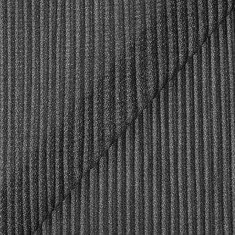 Tissu maille plissée gris argent