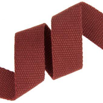 Sangle coton renforcée bordeaux 30mm