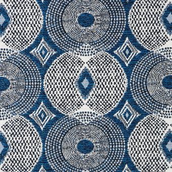 Tissu jacquard Tasmanie bleu