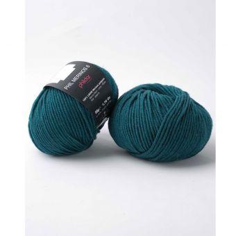 Pelote de laine Phildar Mérinos 6 bleu paon