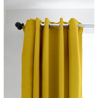 Rideau drome traité anti-poussière jaune