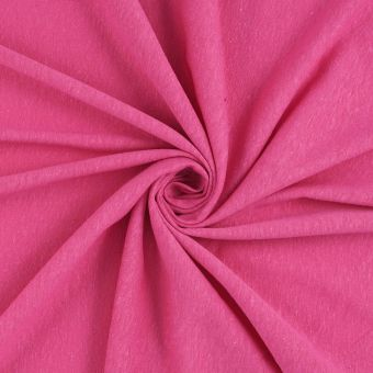 Tissu jersey chanvre rose