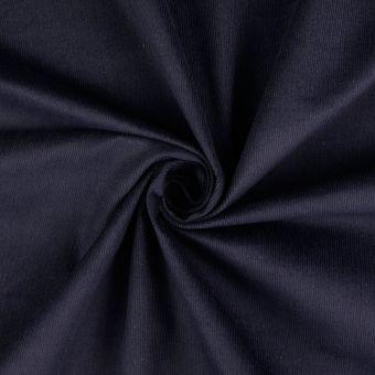 Tissu coton velours côtelé EL bleu marine