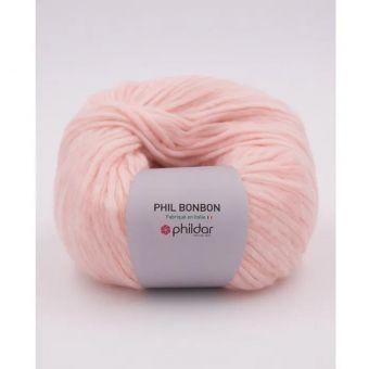 Fil à tricoter Phildar Bonbon rose poudré